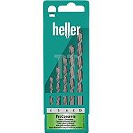 Heller Tools Schlagbohrersatz 4-10mm 5tlg.HM ISO5468 i.Ku.-Kassette HELLER 17755