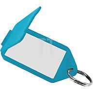 Tuetemann Schlüsselanhänger 8160 FS/50 blau aufklappbar 56 x 30 mm blau