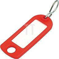 Tuetemann Schlüsselanhänger a. Weichplastik m. S-Haken dunkelblau m. Beschriftungsstreifen 8034 FS BLAU