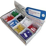 Tuetemann Schlüsselanhänger a.Weichplastik m.S-Haken Leuchtfarben m.Beschriftungsstreifen 8034 STV/200N