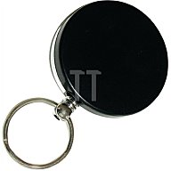 Tuetemann Schlüsselflip 8054/50/100sw Durchmesser 50 mm schwarz mit Nylonseil 100cm