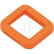 Schlüsselkennring 8004 E FS orange eckig für BKS orange