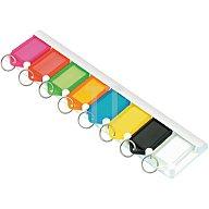 Tuetemann Schlüsselleiste 8160L8 fbg. sort. mit 8 Anhängern zum Ankleben oder -schrauben