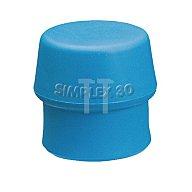 HALDER  Schonhammerkopf D.50mm Simplex lose TPE blau/weich HALDER 3201050