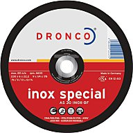 Dronco Schruppscheibe AS30SINOX 125x6,0x22,23mm gekröpft 3126540