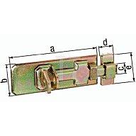 GAH Sicherheits-Schlossriegel 100x40x15x20x45mm Stahl roh galv. gelb verz. 123062