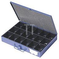Sortimentskasten a.Blech 18Fächer DINZL 340x240x50mm mit Beschriftungsfeld 2905018