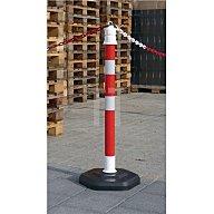 Temka Sperrpfosten PP rot/weiss D.63xH.1000mm z. Aufstellen mit Öse 12403ZR