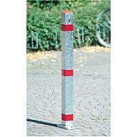 Urbanus Sperrpfosten verz. rote Streifen kippbar m.Schloss z.Aufdübeln AS-125