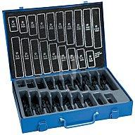 NORDWEST Spiralbohrermagazin DIN338 Typ N 1-10mm 0,5mm HSS rollgew. 170tlg.Metallkassette