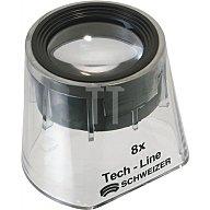 SCHWEIZER Standlupe Tech-Line Vergrößerung 8x Focus Fix Linsen-D.30mm 9408