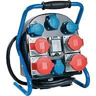 as - Schwabe Standstromverteiler IP44 32A 400V 5polig H07RN-F5 G 4mm2 je 2xCEE 32+16A 4x230V 60904