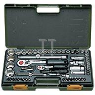 Steckschlüsselsatz CV. 65tlg. 4KT 1/4 u.1/2Zoll PROXXON m.Driver-System 23286