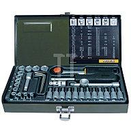 Steckschlüsselsatz CV. MEC1/4-13PR 4KT 36tlg. 1/4Zoll PROXXON m.Driver-System 23080