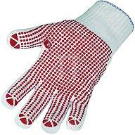 NORDWEST Strickhandschuh Gr. 9 Polyester/Baumwolle einseitig rot benoppt