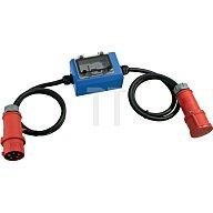 as - Schwabe Stromzähler m. CEE Stecker CEE-Kupplung 400V 16A 2 x 1,5m Kabel 5x2,5 IP44 60745