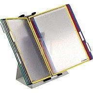 Tarifold Tischständer RAL7035 10 Sichttafeln farbig sortiert a.Stahlblech 434109