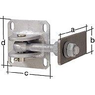 GAH Torband 170x60x120x120mm Anschweisslasche Stahl roh 418656