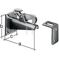 Torfeststeller 100x65x50mm Stahl roh feuerZN z. Anschrauben GAH 411756