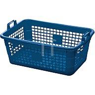 Lockweiler Tragekorb PE blau 45l 620x425x250mm 390/62