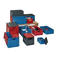 Transportkasten PP blau Schwerlast 600x400x210mm LAKAPE hochbelastbar