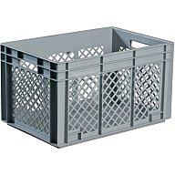 Lockweiler Transportstapelbehälter 80l PP grau Seitenwände durchbrochen Durchfassgriff NB80V2-139180220118