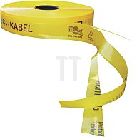 Trassenwarnband, T-Kabel, gelb, 50mm 250 m