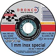 Dronco Trennscheibe AS60TINOX 125x1,0x22,23mm gerade 10er Dose 6900945
