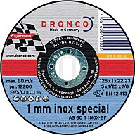 Dronco Trennscheibe AS60TINOX 125x1,0x22,23mm gerade LIFE 10er Dose versiegelt 6900852