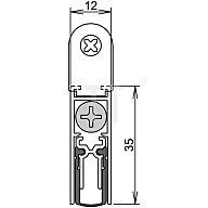 ATHMER Türdichtung Doppeldicht M12/35 Nr. 1-392 Auslösung 1-seitig Länge 833mm Alu. 1-392-0835