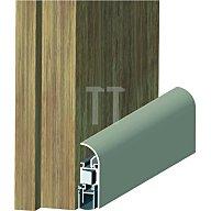 ATHMER Türdichtung Schall-Ex Applic A Auslösung 2-seitig L. 930mm Alu. silber 1-658-0930