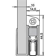 ATHMER Türdichtung Schall Ex DUO GS-10 Nr.1-593 Auslösung 2-seitig L.833mm silberf. 1-593-0835