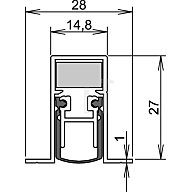 ATHMER Türdichtung Schall-Ex DUO L-15/28 OS Nr.1-404 Auslösung 2-seitig L.833mm Alu. 1-404-0835