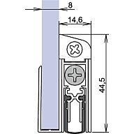 ATHMER Türdichtung Schall Ex GS-8 Nr.1-407 Auslösung 1-seitig L.833mm Alu.silberf.elox. 1-407-0835