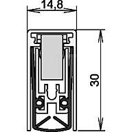 ATHMER Türdichtung Schall-Ex L-15/30 WS Nr.1-880 Auslösung 1-seitig L.1210mm Alu. 1-880-1210