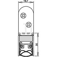 ATHMER Türdichtung Schall-Ex Ultra WS Nr.1-290 Auslösung 2-seitig L.833mm Alu. 1-290-0835