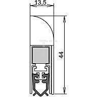 ATHMER Türdichtung Wind-Ex Nr.1-310 Auslösung 1-seitig L.985mm silberfarben elox. 1-310-0985