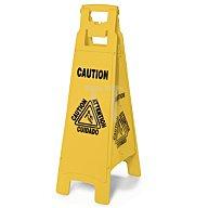 Warnschild gelb,4-seitig Achtung Rutschgefahr Ausführung faltbar