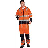 Asatex Warnschutz Softshelljacke Gr.XXL, EN20471 Kl.III, orange/schwarz PTW-S/67