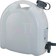 PRESSOL Wasserkanister 10L weiss stapelbar PE m. Ablasshahn 21173