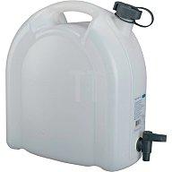 PRESSOL Wasserkanister 15L weiss stapelbar PE m. Ablasshahn 21175