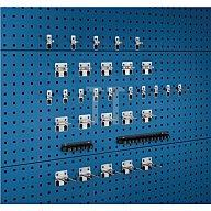 Bott Werkzeughalter 32-tlg.Sortiment verzinkt 15 Haken 7 Halter 10 Klemmen f.Lochpl. 14030208