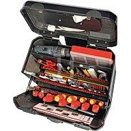 PARAT Werkzeugkoffer 450x260x385mm rollbar m. genähten Einsteckf. Klappversion 2012.530-981