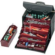 Werkzeugtasche Rindleder m.5Schubl. 410x220x310mm PARAT