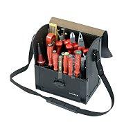 Werkzeugtasche Rindleder schwarz 220x140x250mm PARAT