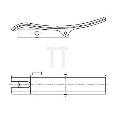 Abhebevorrichtung f.Außenring-D.58mm schwenkbar f.Messuhren