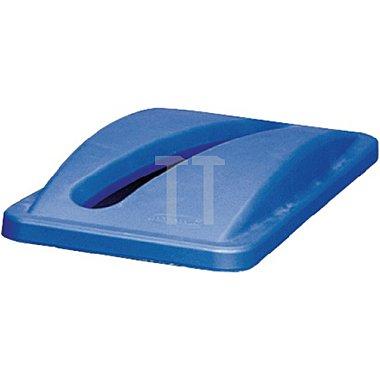 Deckel für Wertstoffsammler blau für Papier H.70xB.290xT.520mm