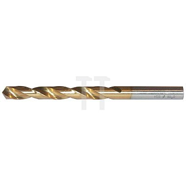 Spiralbohrer, zyl., kurz Ø 4,1mm Typ N HSS-TiN rechts
