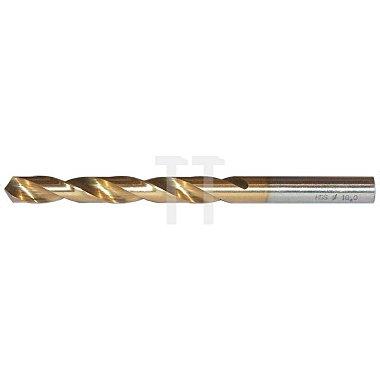 Spiralbohrer, zyl., kurz Ø 9,9mm Typ N HSS-TiN rechts