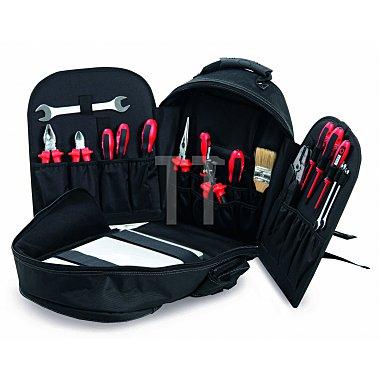 Techniker-Werkzeugrucksack Soft- Werkzeugtasche Polytex 420 x 350 x 210mm
